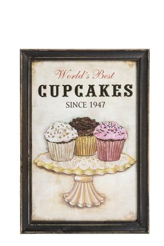 Antica soffitta pannello stampa targa quadro legno cupcakes cucina vintage - Quadri cucina vintage ...