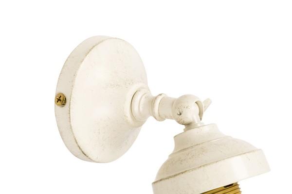 Antica soffitta applique mignon ottone bianco laccato faretto