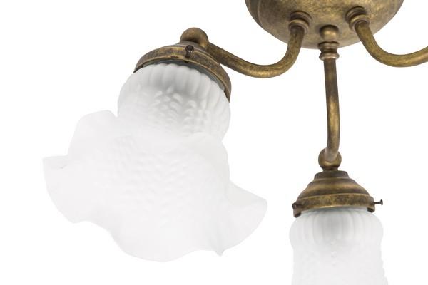 Plafoniera Ottone Esterno : Antica soffitta plafoniera lampadario ottone brunito anticato