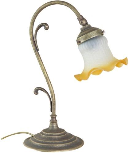 Antica soffitta lampada da tavolo ottone brunito vintage for Lampada comodino
