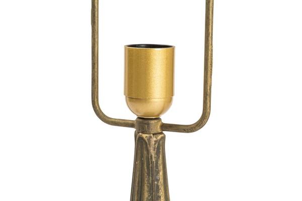 Antica soffitta base per lampada 48cm in ottone brunito - Base per lampada da tavolo ...