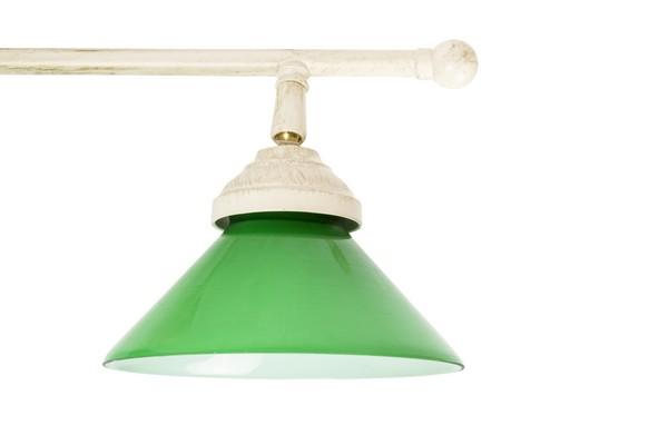 Plafoniera Ottone Antica : Antica soffitta plafoniera lampadario ottone bianco shabby chic