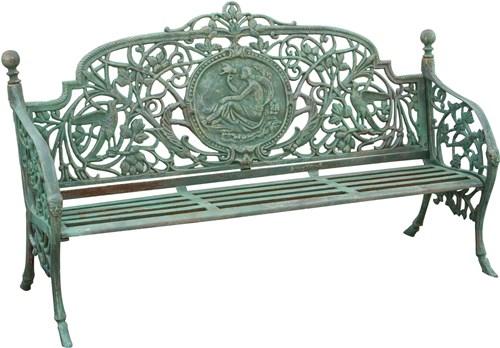 Panchine Da Giardino In Ghisa : Antica soffitta panchina liberty panca verde cm panchetta