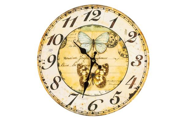 Antica soffitta orologio da parete shabby chic farfalle for Stampe da parete