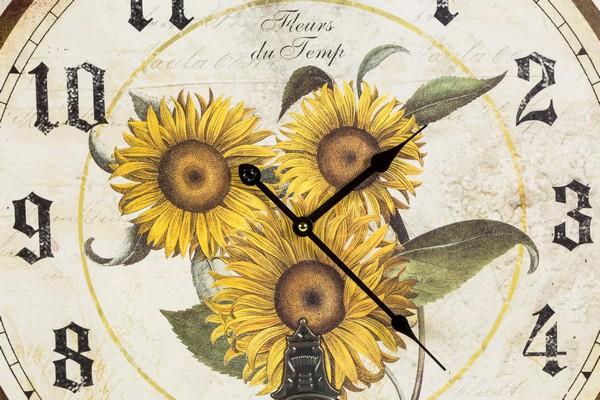 ... Orologio da parete pendolo shabby chic girasoli country PX-HLC281384