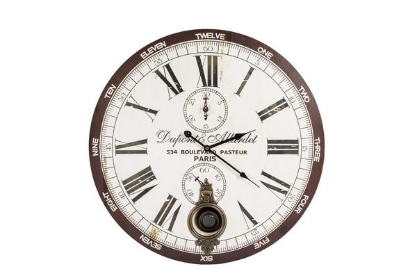 Antica soffitta orologio da parete pendolo shabby chic - Orologi da parete shabby chic ...