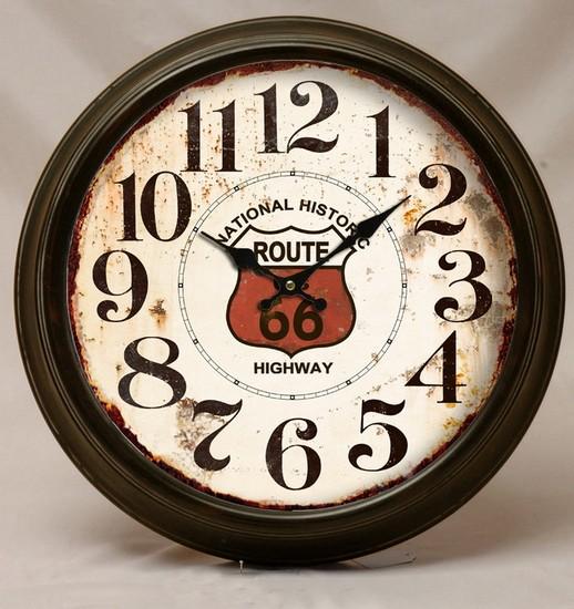Antica soffitta orologio da parete route 66 america usa for Orologio muro vintage