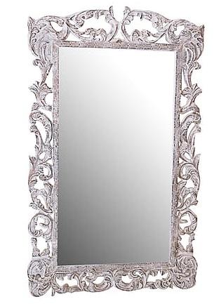 Antica soffitta specchio 150cm vintage legno bianco barocco shabby chic rocaille - Specchi pubblicitari vintage ...