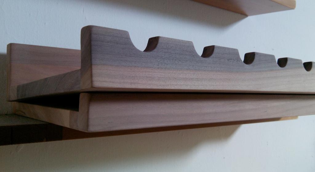 Antica soffitta set 2 mensole cantinetta portabottiglie - Portabottiglie in legno da parete ...