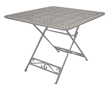 Antica soffitta tavolino tavolo ferro bianco giardino - Tavolo bianco anticato ...