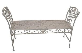 Antica soffitta panchina da giardino esterno ferro for Panca portaoggetti da esterno