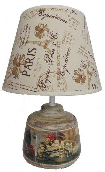 Antica soffitta lampada 40cm da tavolo paralume tessuto for Tiffany londra indirizzo