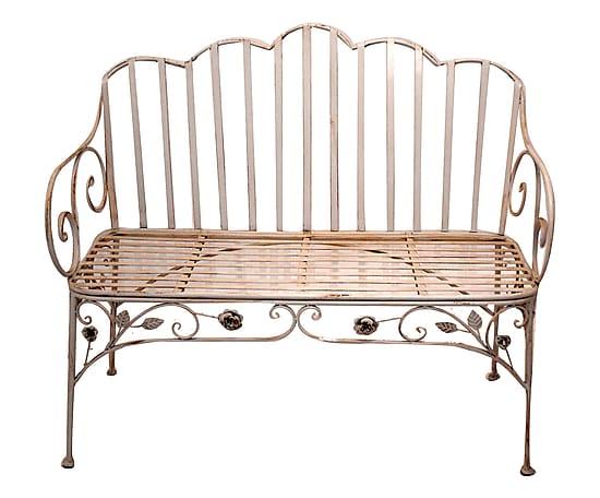 Antica soffitta panchina da giardino liberty esterno - Panchine da esterno in ferro ...
