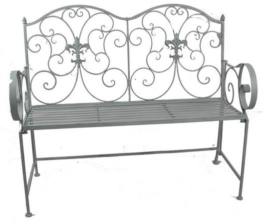 Antica soffitta panchina da giardino esterno ferro grigio - Panchine da esterno in ferro ...