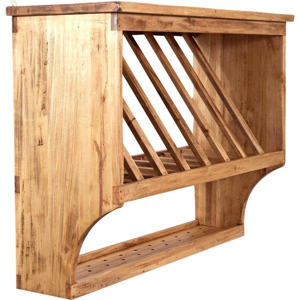 Antica soffitta piattaia in legno massello country cucina for Piattaia antica