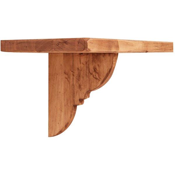 Antica soffitta mensola in legno massello 120cm naturale for Mensole legno naturale