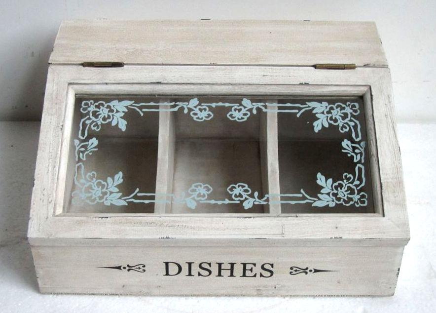 Antica soffitta scatola porta the posate dishes shabby - Porta per soffitta ...
