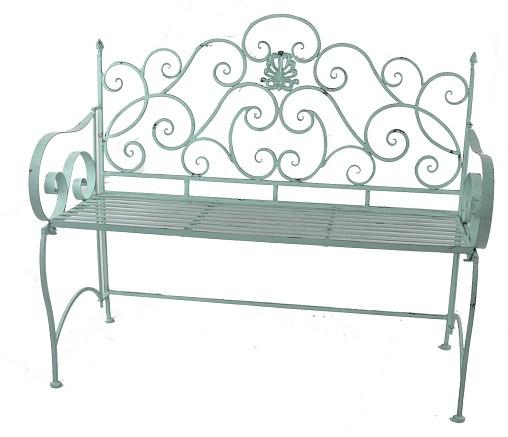Antica soffitta panchina da giardino esterno ferro verde - Panchine da esterno in ferro ...