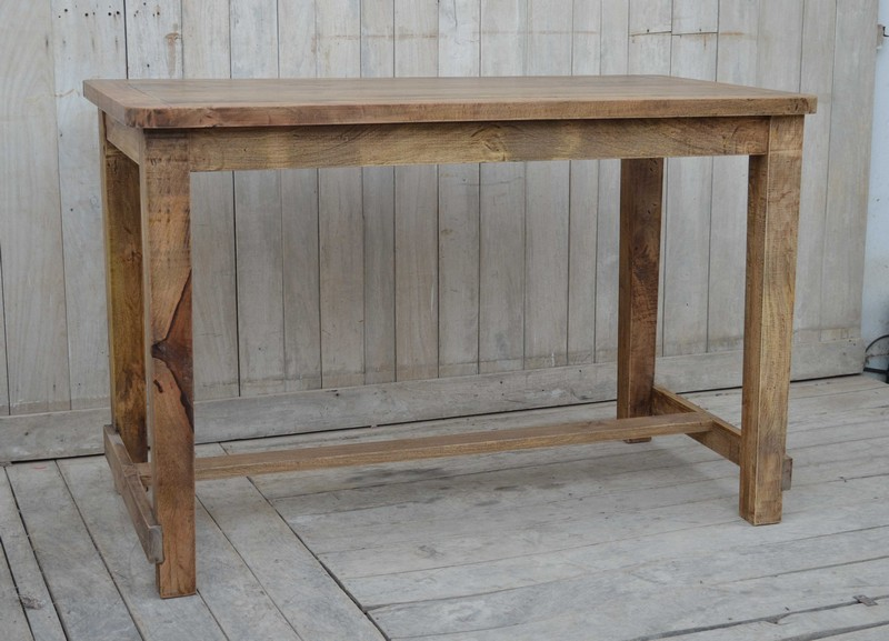 Tavolo Industriale Quadrato : Antica soffitta tavolo bar pub bancone legno industrial