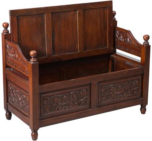 Antica soffitta cassapanca legno noce rinascimentale - Baule come tavolino ...