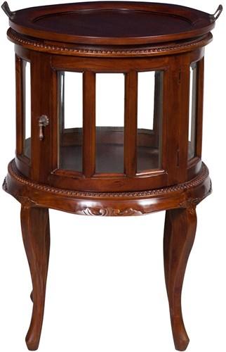 Antica soffitta credenza vassoio mobile bar tavolo legno for Tavolino con vetrina