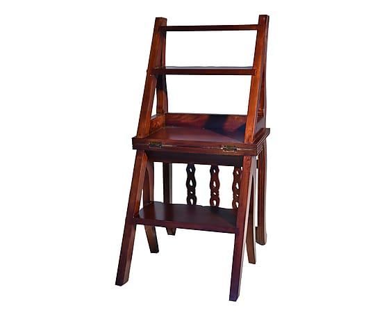 Scaletta In Legno Antica : Antica soffitta scala scaletta libreria legno noce vintage mobile