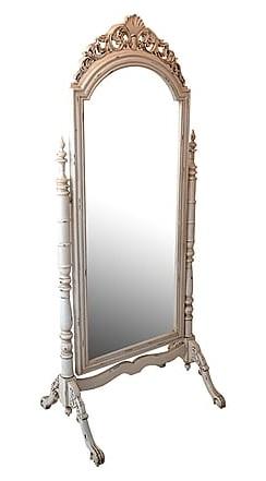 Antica soffitta specchio 190cm vintage bianco specchiera - Specchio ovale vintage ...
