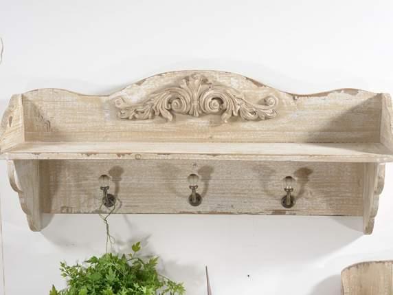 Antica soffitta mensola appendini da parete in legno shabby chic vintage - Parete shabby chic ...