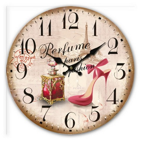 Antica soffitta orologio da parete 34cm vintage perfume for Orologio muro vintage