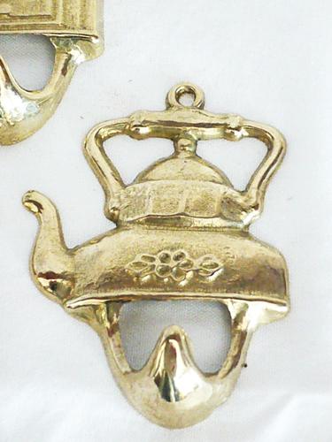 Antica soffitta appendini ottone lucido teiere gancio for Appendini cucina
