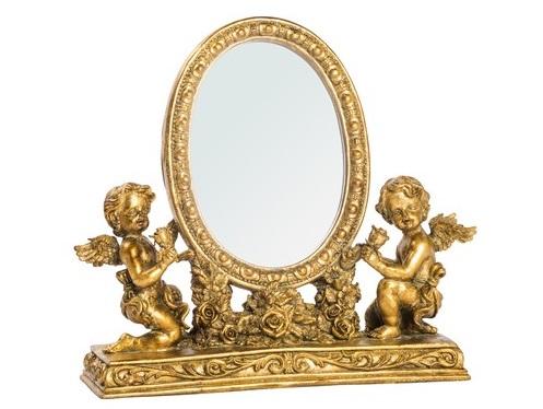 Antica soffitta: specchio da appoggio toilette barocco rose oro ...