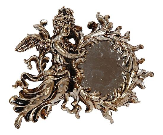 Antica soffitta specchio 18cm specchiera vintage barocco for Specchio barocco argento