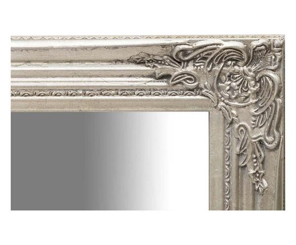 Antica soffitta specchio da parete barocco in legno e for Specchio da parete argento