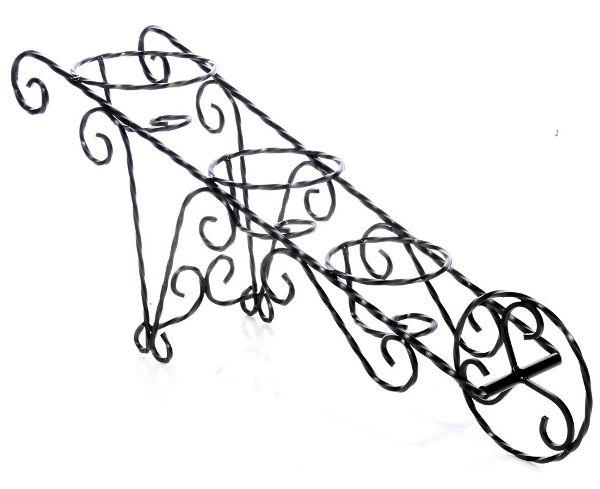 Antica soffitta portavasi a carriola tre posti porta vasi for Portavasi in ferro