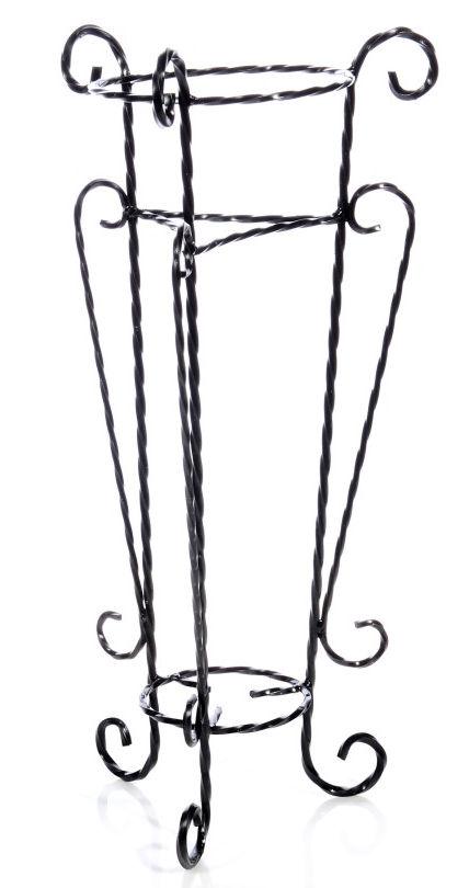 Antica soffitta portavasi 21cm alto 75cm porta vasi fiori - Porta vasi in ferro battuto ...