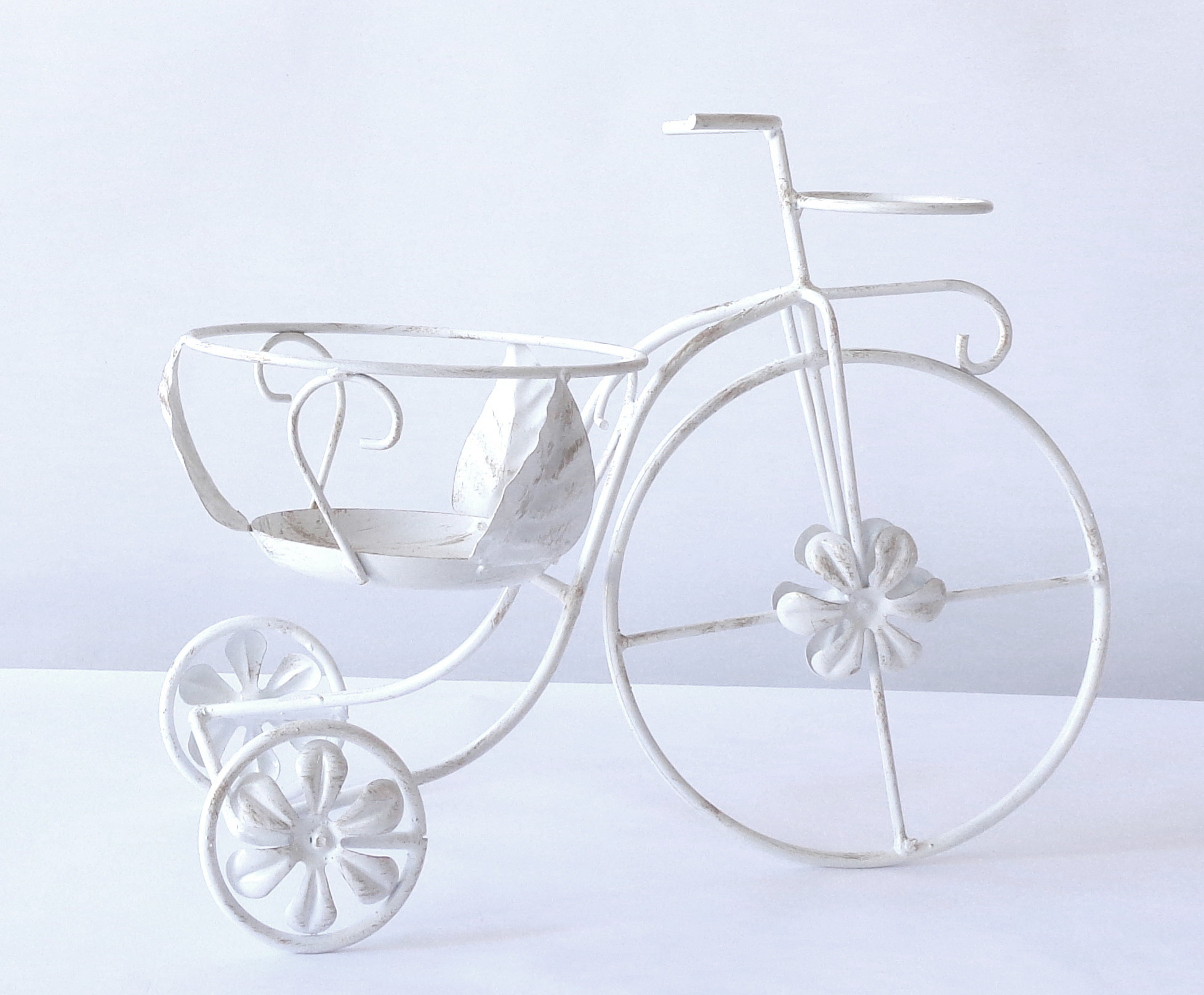 Antica soffitta portavasi a bicicletta porta vasi fiori - Portavasi in ferro ...