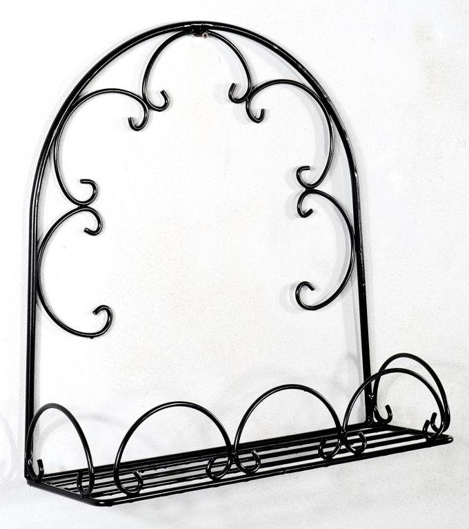 Antica soffitta porta cassetta vasi portavasi da appendere 50cm ad arco - Portavaso da parete ...