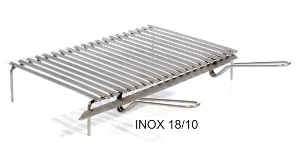 Antica soffitta griglia 60x40cm inox graticola barbecue for Griglia per barbecue bricoman