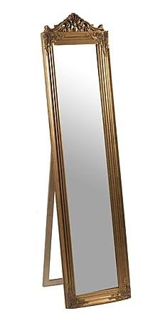 Antica soffitta specchio oro da terra in legno barocco specchiera - Specchio da terra ...