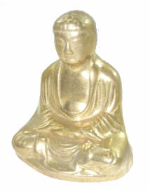 Buddha statuina fermacarte ottone lucido made in Italy