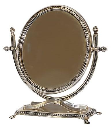 Antica soffitta specchio da tavolo appoggio liberty basculante vintage argento - Specchio da appoggio ...
