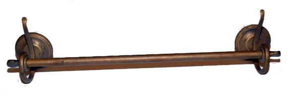 Antica soffitta porta asciugamani salviette 55cm ottone brunito onda bagno - Porta per soffitta ...