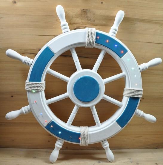 Antica soffitta timone da appendere nautico barca mare for Stampe da appendere