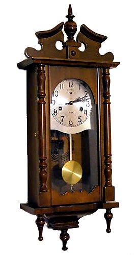 Antica soffitta orologio pendolo a carica legno parete for Orologio muro vintage