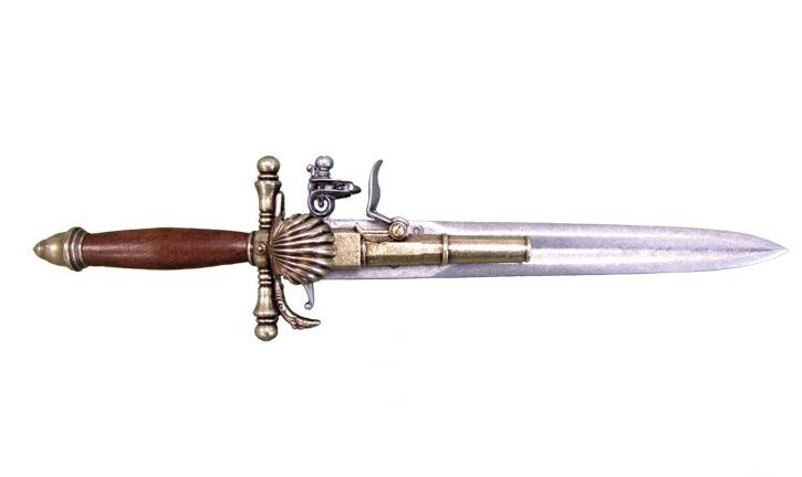 Antica soffitta pistola pugnale 38cm francese for Arreda durante