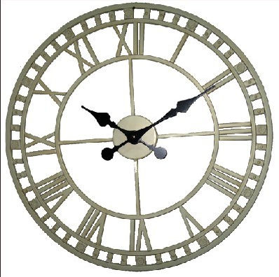 Antica soffitta orologio parete 52cm avorio vintage for Orologio shabby chic