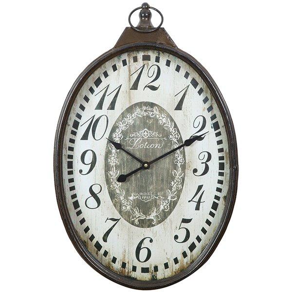 Affordable orologio da parete muro ovale in ferro anticato for Orologi grandi dimensioni